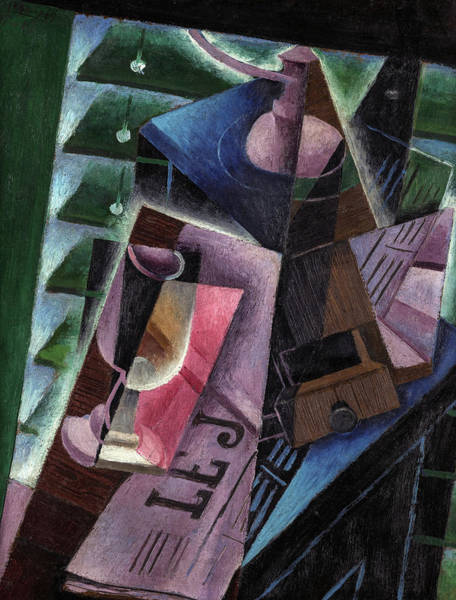 Wall Art - Painting - Coffee Grinder And Glass, 1915 by Juan Gris
