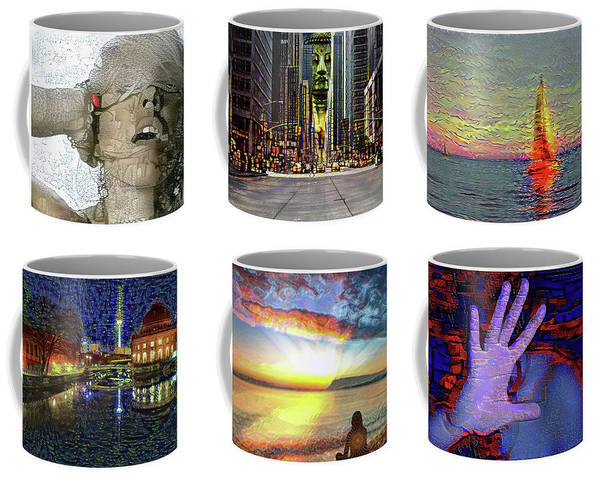 Digital Art - Coffee Mugs Samples by Alex Mir