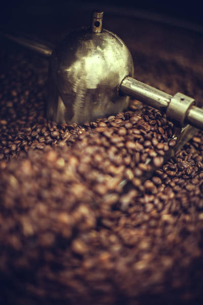 Business Cycles Wall Art - Photograph - Coffee Roaster In Action by Ryanjlane
