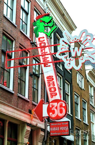 Wall Art - Photograph - Coffee Shop 36 In Amsterdam by John Rizzuto