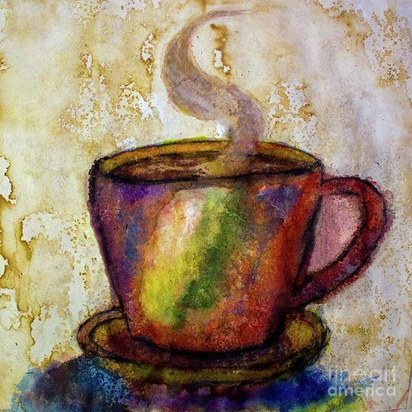 Painting - Coffee Spill by Michael Cross