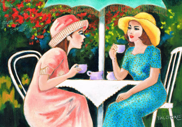 Painting - Coffee Time by Val Stokes