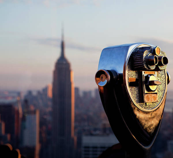Binoculars Photograph - Coin Operated Binoculars And Empire by Ozgurdonmaz
