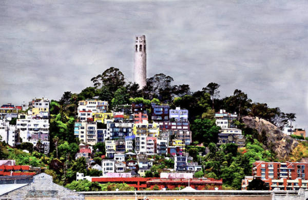 Mixed Media - Coit Colors by Wayne King