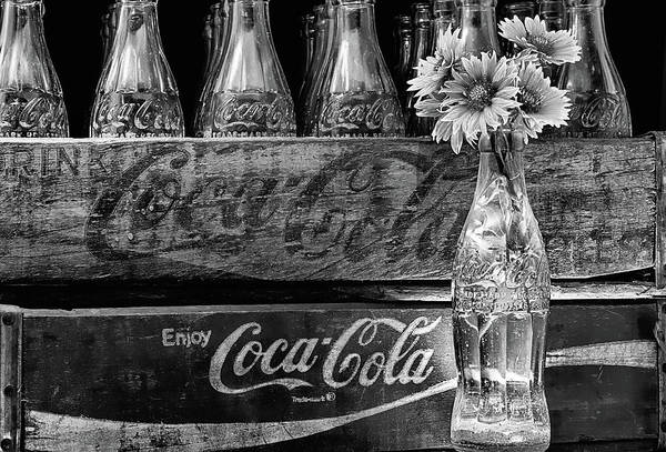 Photograph - Coke And Gaillardia Still Life Life Black And White by JC Findley
