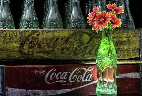 Photograph - Coke And Gaillardia Still Life Life by JC Findley