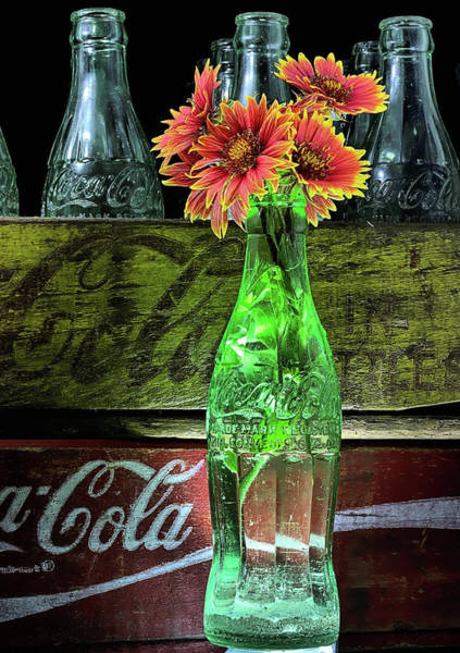 Photograph - Coke And Indian Blanket Still Life by JC Findley