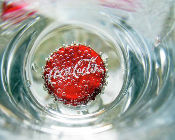 Cursive Photograph - Coke Cap by Francis Sullivan