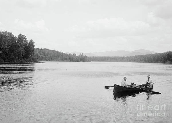 Oar Photograph - Cold Brook Mountains From State Bridge, Adirondack Mountains, 1902  by William Henry Jackson