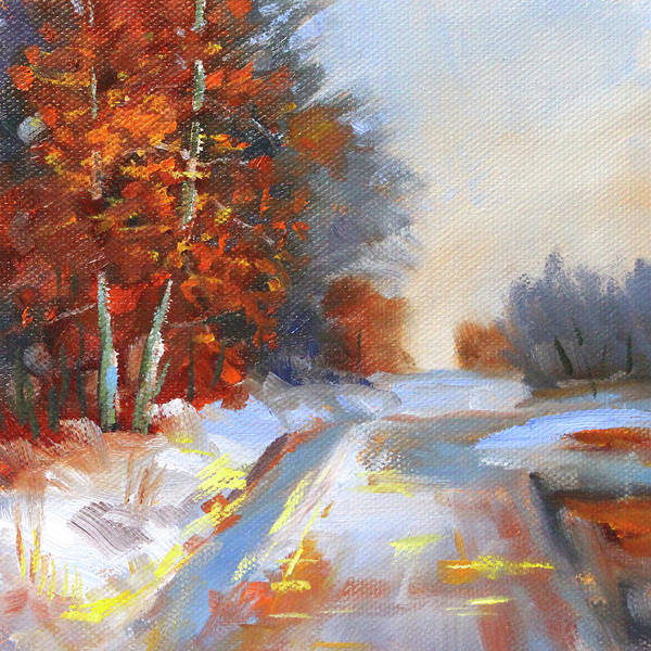 Wall Art - Painting - Cold Morning by Nancy Merkle