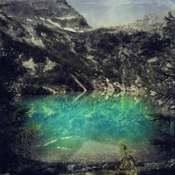 Photograph - cold mountain lake - Lagazzuolu - Lombardia - Italy by Dirk Wuestenhagen