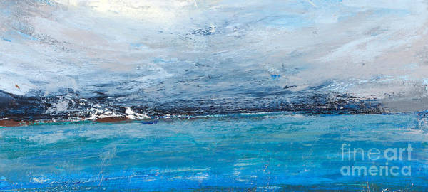 Wide Wall Art - Digital Art - Cold Ocean, Landscape With The Sea by Ingaga