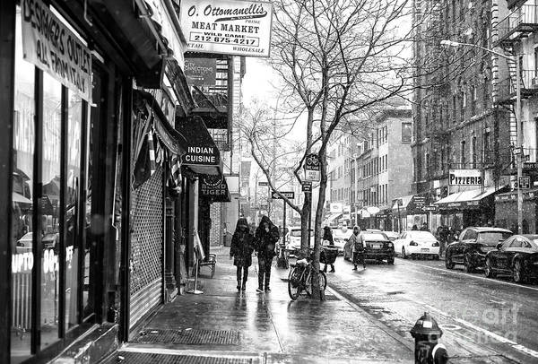 Wall Art - Photograph - Cold On Bleecker Street Greenwich Village by John Rizzuto
