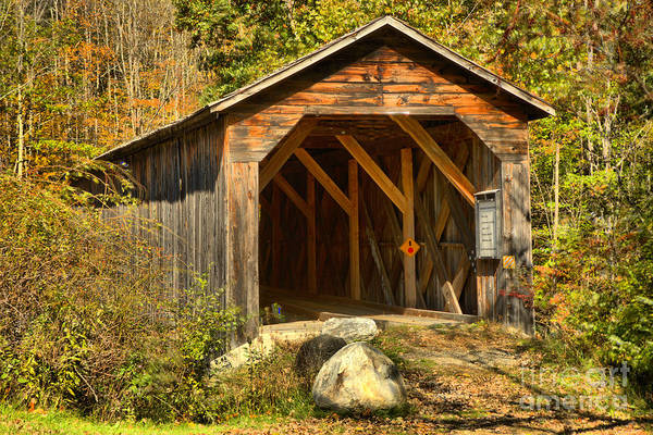 Photograph - Cold River Covered Bridge by Adam Jewell