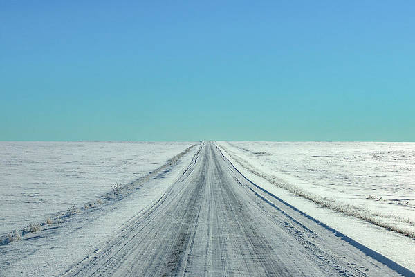 Icy Photograph - Cold Rural Road by Todd Klassy