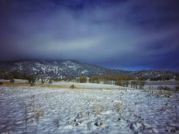 Photograph - Cold Skies Over Elk Meadow by Dan Miller