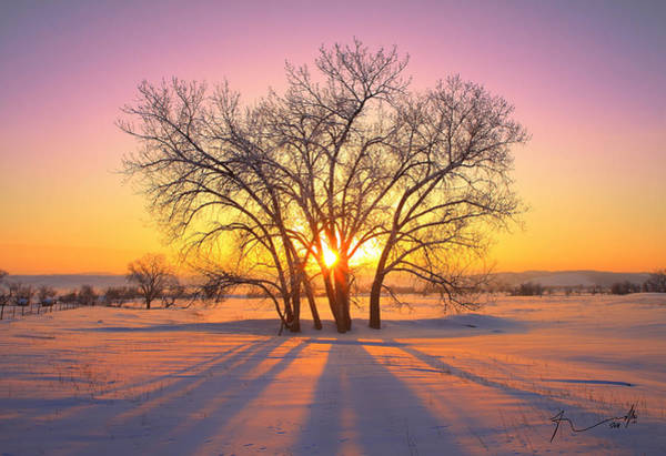 Wall Art - Photograph - Cold Sunset by Kadek Susanto