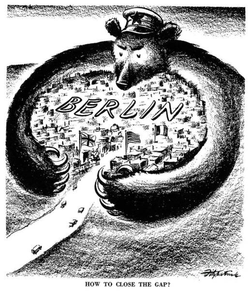 Drawing - Cold War Berlin  by D R Fitzpatrick