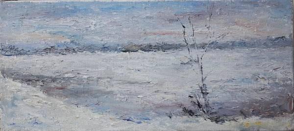 Wall Art - Painting - Cold Winter Day by Kateryna Kostiuk-Shostka