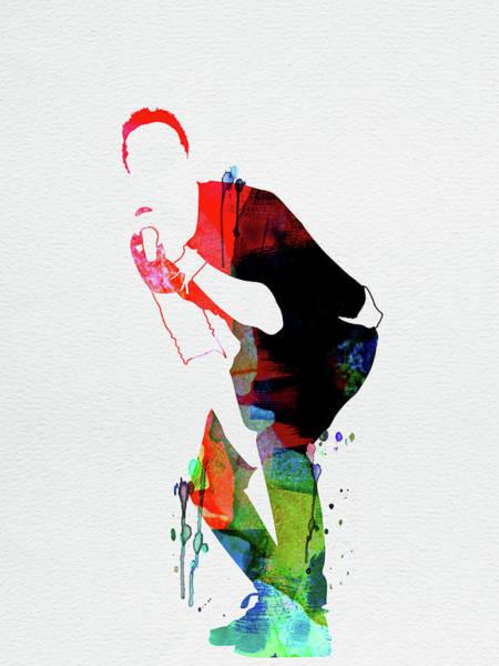 Jazz Mixed Media - Coldplay Watercolor by Naxart Studio
