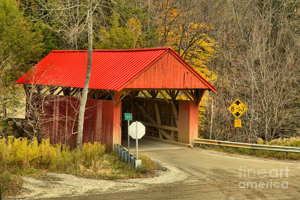 Photograph - Cole Hill Covered Bridge Road by Adam Jewell