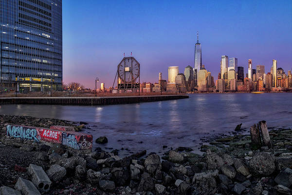 Photograph - Colgate Clock And Nyc Skyline by Susan Candelario