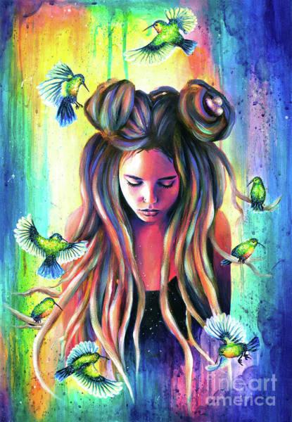 Wall Art - Painting - Colibri Nest by Olesya Umantsiva