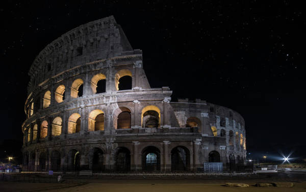 Photograph - Coliseum At Night by Jaroslaw Blaminsky