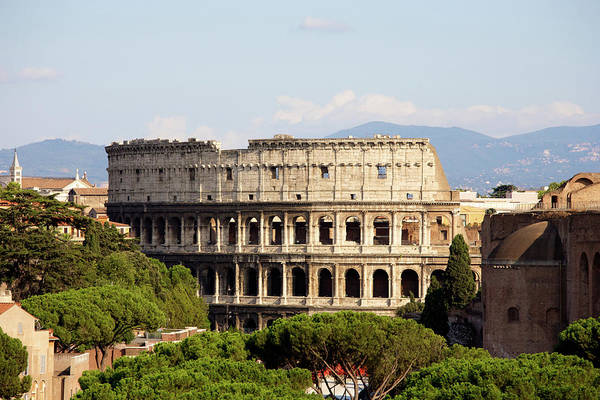Ancient Photograph - Coliseum In Rome by Massimo Merlini