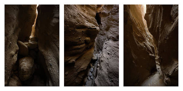 Photograph - Collage - Canyon Sin Nombre Slot Canyon by Alexander Kunz