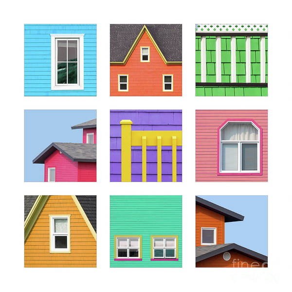 Wall Art - Photograph - Collage Of Details Of The Colourful Houses Of The Magdalen Islan by Jane Rix
