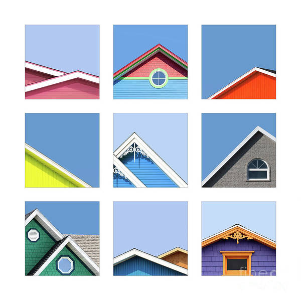 Wall Art - Photograph - Collage Of The Rooftops Of The Magdalen Islands by Jane Rix