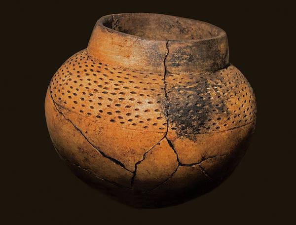 Photograph - Collared Bowl, 1,700 Years Old by Millard H. Sharp