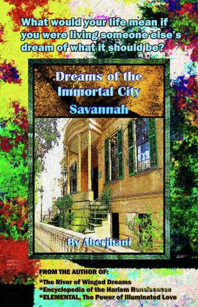 Columns Mixed Media - Collectible Dreaming Savannah Book Poster by Aberjhani