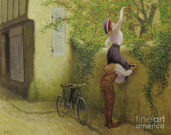 Wall Art - Painting - Collecting Plums by Jacques Wely