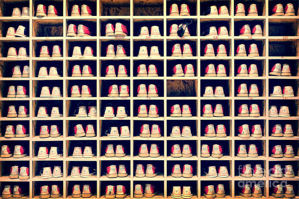 Rack Photograph - Collection Of Bowling Shoes In Their by Delpixel