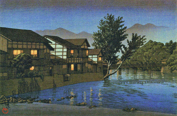 Wall Art - Painting - Collection Of Scenic Views Of Japan, Eastern Japan Edition, Ohwani Spa - Digital Remastered Edition by Kawase Hasui
