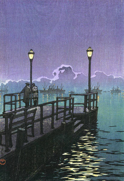 Wall Art - Painting - Collection Of Scenic Views Of Japan, Hachinohe - Digital Remastered Edition by Kawase Hasui