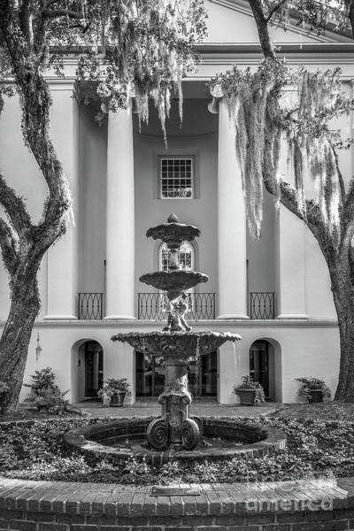 Photograph - College Of Charleston Fountain by University Icons