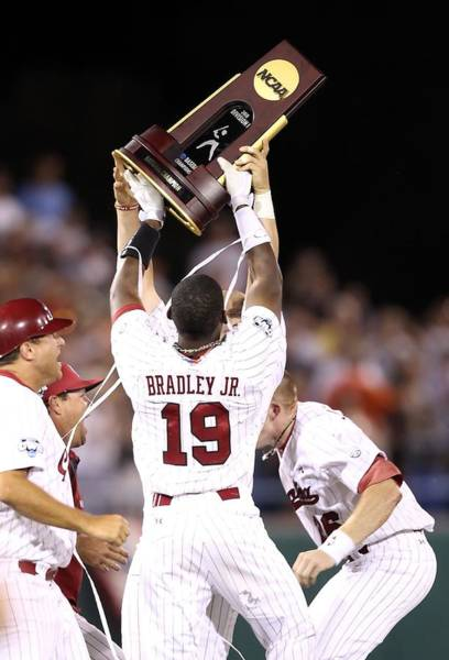 South Carolina Photograph - College World Series - Game Two by Christian Petersen