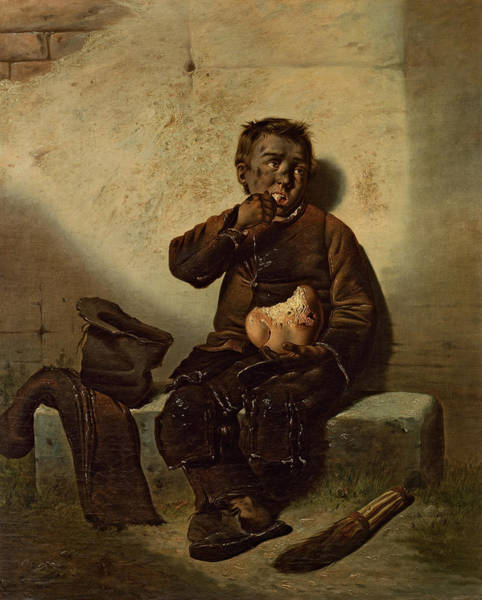 Hunger Painting - Collier by Charles Cottet