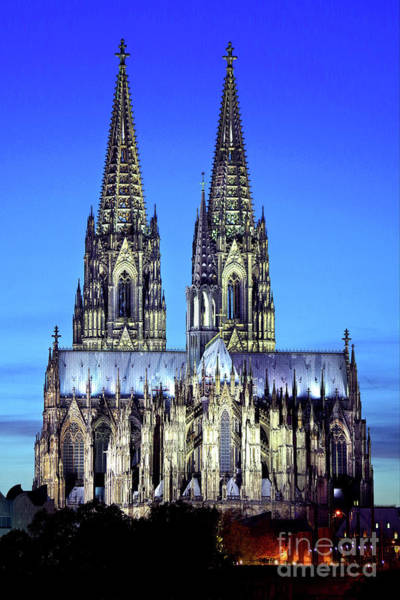 Wall Art - Photograph - Cologne Cathedral, Portrait At Twilight by Douglas Taylor