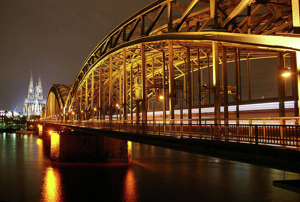 Rhine River Photograph - Cologne City At Night by Josselin Dupont