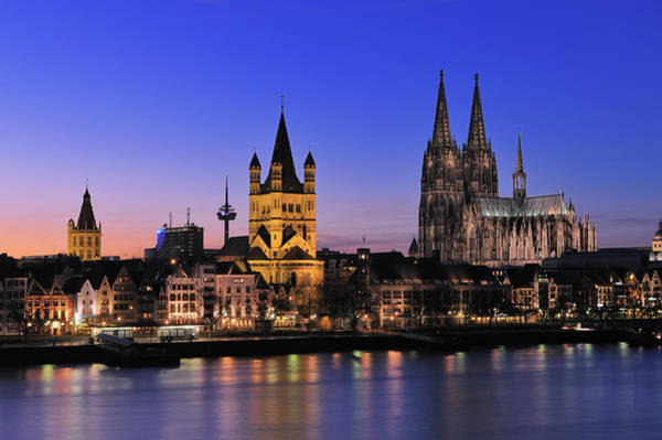 Wall Art - Photograph - Cologne Skyline With Cathedral by Martin Ruegner