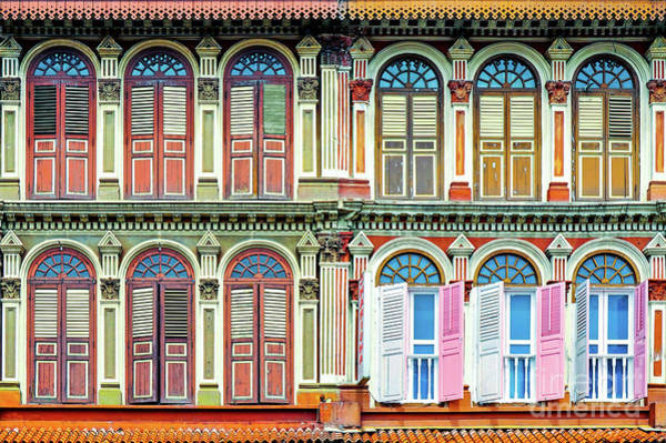 Wall Art - Photograph - Colonial Architecture In Singapore by Delphimages Photo Creations