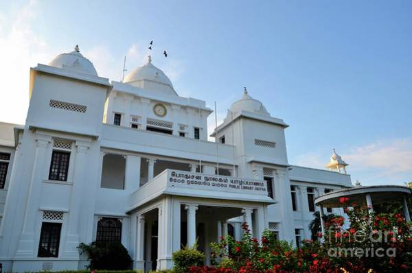 Photograph - Colonial Era Rebuilt Jaffna Public Library Landmark Building For Tamils Jaffna Sri Lanka by Imran Ahmed