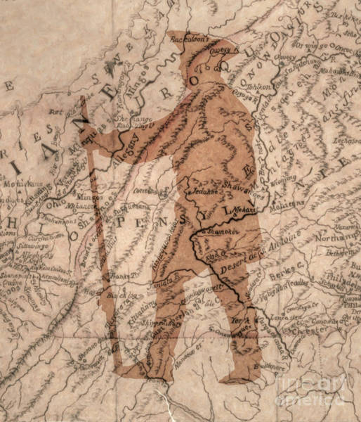 Wall Art - Digital Art - Colonial Knight Map Version   by Randy Steele