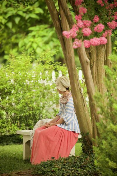 Wall Art - Photograph - Colonial Lady In A Summer Garden by Rachel Morrison