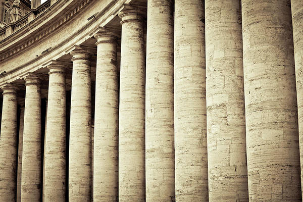 Photograph - Colonnades In Vatican City, Rome by Zodebala