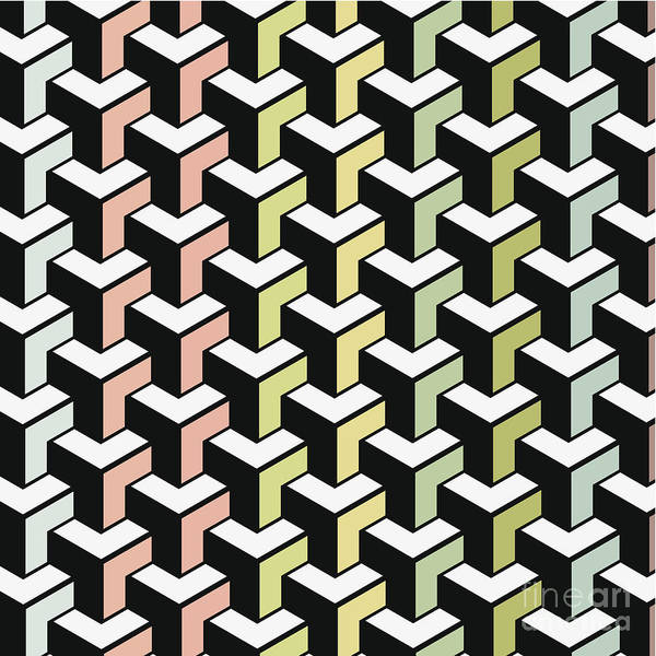 Digital Art - Color Abstract Geometry Shape Background by Naqiewei